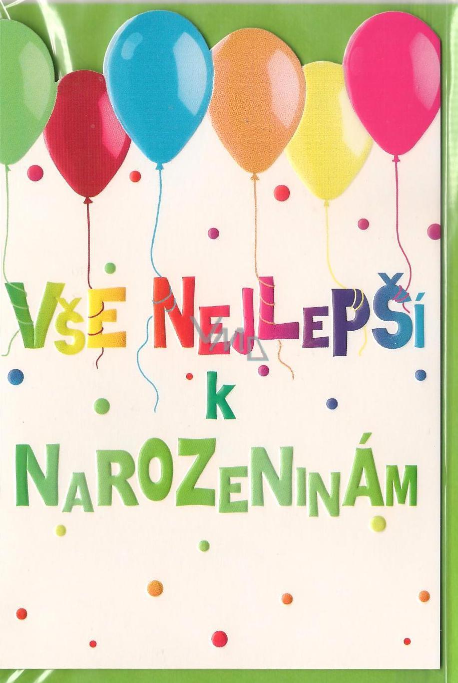 nejlepší k narozeninám Nekupto Přání k narozeninám 3273 Vše nejlepší k narozeninám   VMD  nejlepší k narozeninám