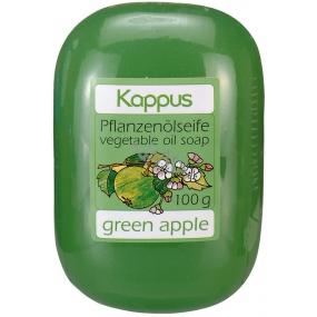 Kappus Green Apple glycerinové toaletní mýdlo s rostlinným olejem 100 g