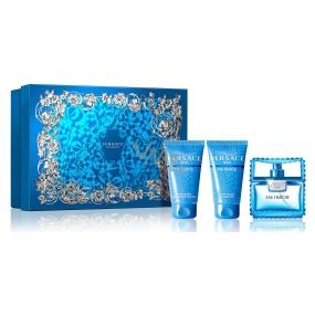 Versace Eau Fraiche Man toaletní voda 50 ml + šampon na vlasy 50 ml + sprchový gel 50 ml, dárková sada