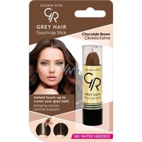Golden Rose Gray Hair Touch-Up Stick barvící korektor na odrostlé a šedivé vlasy 08 Chocolate Brown 5,2 g