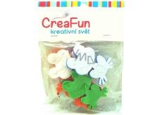 CreaFun Samolepicí dekorace Žába 4 x 6,3 cm, 3 x 5 cm 8 kusů