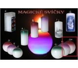Lima Magická červená svíčka koule 100 mm 1 kus