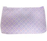Etue Hranatá látková fialová s bílými kytičkami 20 x 11,5 x 1,5 cm 70160