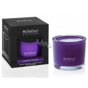 Millefiori Milano Natural Melody Flowers - Akordy květin Vonná svíčka hoří až 60 hodin 180 g