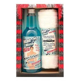 Bohemia Gifts & Cosmetics Man Wash Myčka pro muže sprchový gel 500 ml + ručník 30 x 50 cm, kosmetická sada