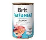Brit Paté & Meat losos a kuře čisté masové paté kompletní krmivo pro psy 400 g