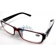 Berkeley Čtecí dioptrické brýle +4,0 plast vínové černé stranice 1 kus MC2062