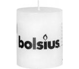 Bolsius Rustic svíčka bílá válec 68 x 80 mm