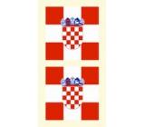 Arch Tetovací obtisky na obličej i tělo Chorvatská vlajka 1 motiv