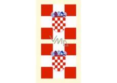 Arch Tetovací obtisky na obličej i tělo Chorvatsko vlajka 1 motiv