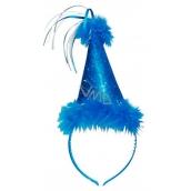 Klobouček s labutěnkou modrý, čelenka