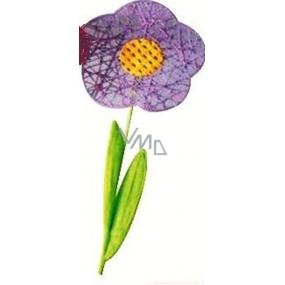 Květina velká fialová proplétaná 49 cm