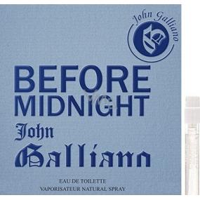 John Galliano Before Midnight toaletní voda pro muže 1,5 ml s rozprašovačem, Vialka