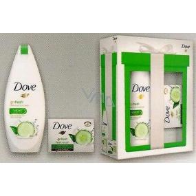 Dove Fresh Touch Okurka & Zelený čaj Mini Go Fresh Touch vyživující sprchový gel 250 ml + Go Fresh Touch krémová tableta 100 g, kosmetická sada