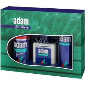 Adam Pěna na holení 200 ml + balzám po holení 150 ml + deodorant spray 150 ml, kosmetická sada