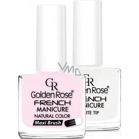 Golden Rose French Manicure Set lak na nehty francouzská manikúra 03 2 x 10,7 ml