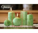 Lima Mramor Opium vonná svíčka zelená koule 80 mm 1 kus
