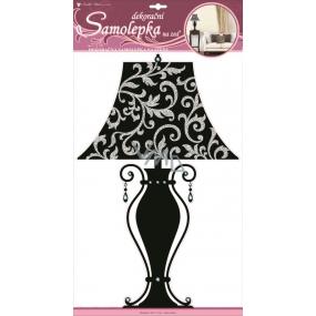 Room Decor Samolepky na zeď lampa černá 50 x 32 cm