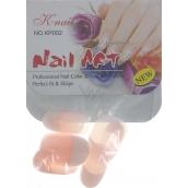 Natural Art Nails umělé nehty zaoblené francouzská manikúra růžová 10 kusů 806