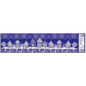Okenní fólie bez lepidla domy č.3 64 x 15 cm