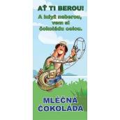 Bohemia Gifts & Cosmetics Pro rybáře Mléčná čokoláda dárková 100 g