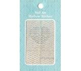 Nail Accessory Hollow Sticker šablonky na nehty multibarevné vlnky 1 aršík 129