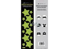 Reflexní samolepky Hvězdy žluté 7 x 28,5 cm