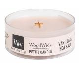 WoodWick Vanilla & Sea Salt - Vanilka a mořská sůl vonná svíčka s dřevěným knotem petite 31 g