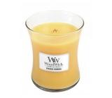 WoodWick Seaside Mimosa - Mimóza na pobřeží vonná svíčka s dřevěným knotem a víčkem sklo střední 275 g