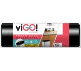 viGO! Pytle na odpad černé, 7 µ, 60 litrů 60 x 70 cm 50 kusů