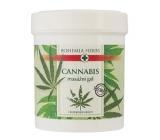 Bohemia Gifts & Cosmetics Cannabis konopný masážní gel mentholem a výtažky z kaštanu, kostivalu, kafru a eukalyptu pro masáž pokožky v oblasti unavených svalů, kloubů a šlach 125 ml