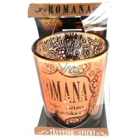 Albi Třpytivý svícen ze skla na čajovou svíčku ROMANA, 7 cm