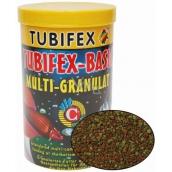 Tubifex Basic Multi Granulat plnohodnotné krmivo pro akvarijní ryby, které pobývají při dně akvária 125 ml