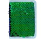 Albi Diář 2020 mini Zelený flitr 11 x 7,5 x 1 cm