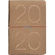 Albi Diář 2020 týdenní metalický Rose Gold 19 x 13 x 0,7 cm