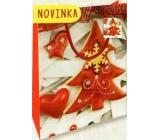 Nekupto Dárková papírová taška malá 14 x 11 x 6,5 cm Vánoční 1797 30 WBS