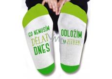 Nekupto Rodinné dárky s humorem Ponožky Co nemusím dělat dnes, velikost 39-42