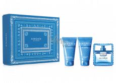 Versace Eau Fraiche Man toaletní voda pro muže 50 ml + sprchový gel 50 ml + balzám po holení 50 ml, dárková sada