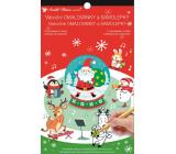 Samolepky a omalovánky vánoční Santa 14 x 23 cm