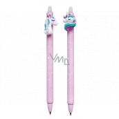 Colorino Gumovatelné pero Jednorožec fialové, modrá náplň 0,5 mm 1 kus