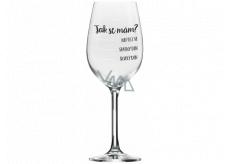 Albi Můj Bar Mega sklenice na víno Stupnice Jak se mám? 670 ml