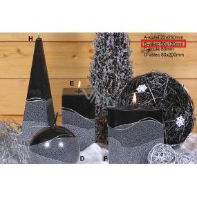 Lima Artic svíčka černá válec 60 x 120 mm 1 kus