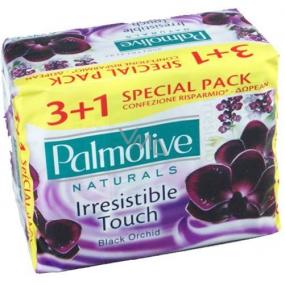 Palmolive Naturals Black Orchid tuhé toaletní mýdlo 4 x 90 g