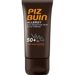 Piz Buin Allergy Face SPF50+ opalovací krém na obličej 50 ml