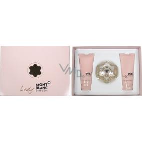 Montblanc Lady Emblem parfémovaná voda 75 ml + tělové mléko 100 ml + sprchový gel 100 ml, dárková sada