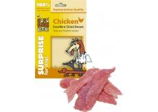 Huhubamboo Excellent Sušená kuřecí prsa přírodní masová pochoutka pro psy 75 g