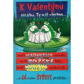 Ditipo Hrací přání k Valentýnu Miláčku, Ty máš všechno melodie 224 x 157 mm