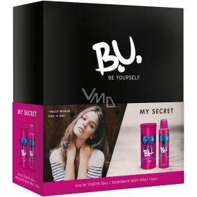 B.U. My Secret toaletní voda pro ženy 50 ml + deodorant sprej 150 ml, dárková sada