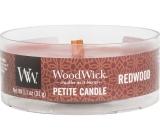 WoodWick Redwood - Santalové dřevo vonná svíčka s dřevěným knotem petite 31 g
