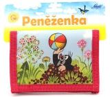 Nekupto Krtečkova dobrodružství Peněženka Krteček s míčem červená 13,5 x 9,5 cm